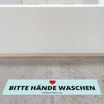 """Corona Bodenaufkleber """"Bitte Hände waschen"""""""