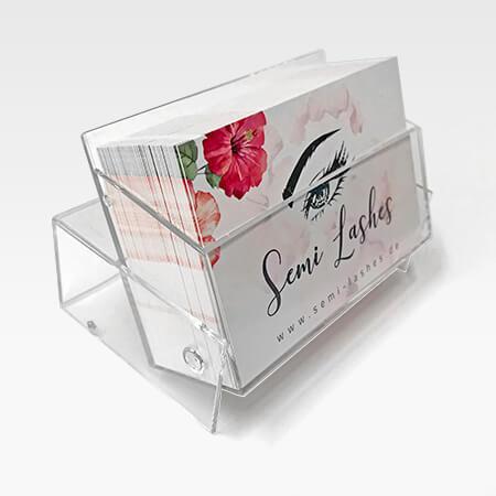 Visitenkarten Box Spender Aufsteller Broschueren