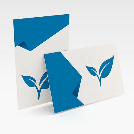Visitenkarten Mit Naturpapier Broschueren Kleinauflagen De