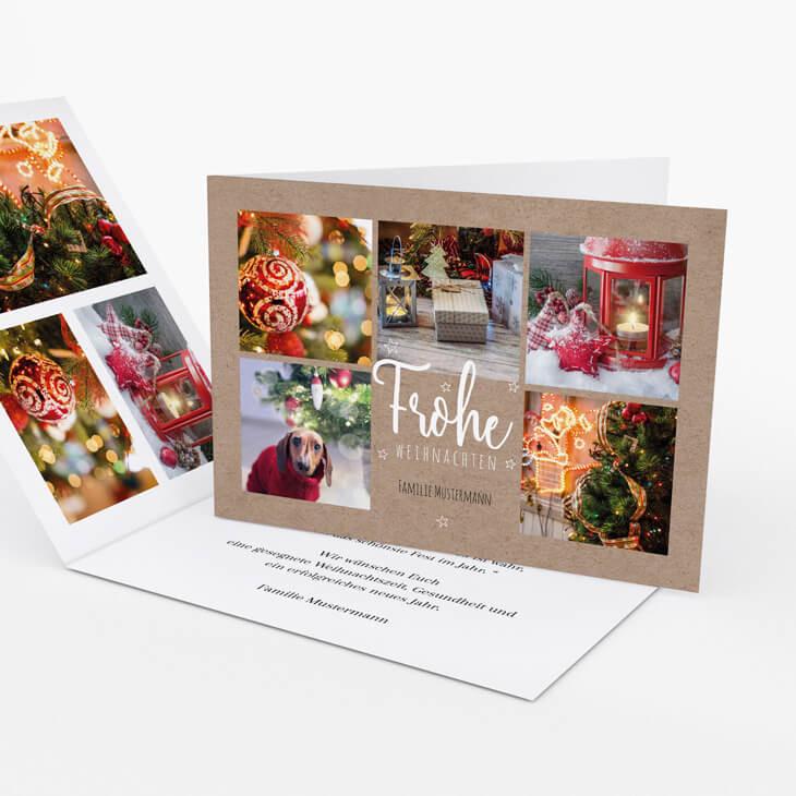 Weihnachtskarte Fest der Liebe
