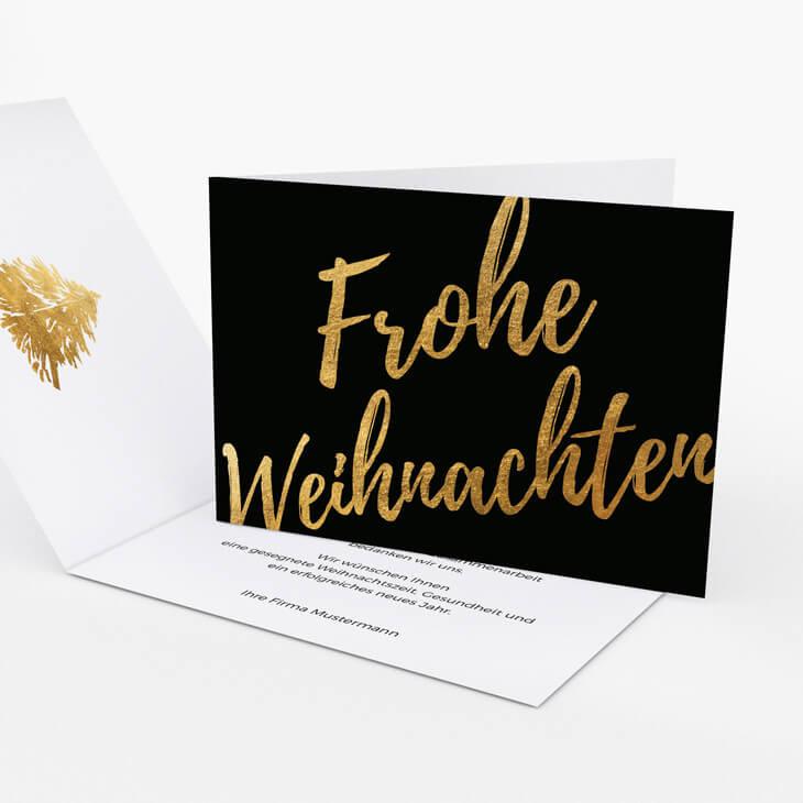 Weihnachtskarte Goldene Weihnachten