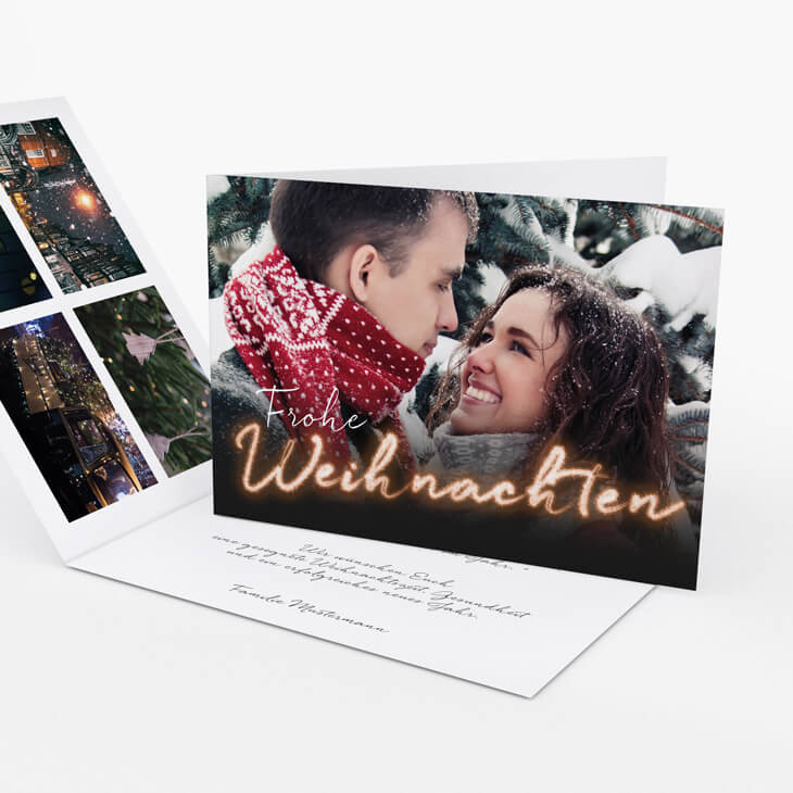 Weihnachtskarte Magic Moments