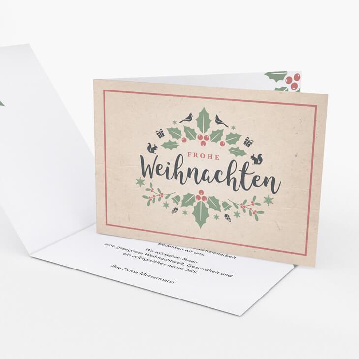 Weihnachtskarte Mistelzweig
