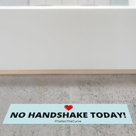 "Corona Bodenaufkleber ""No Handshake Today"""