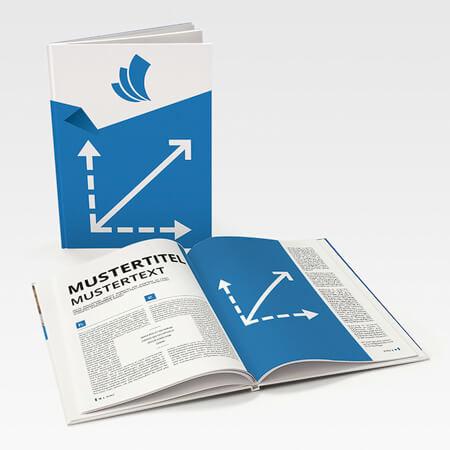 Broschüren im Wunschformat (Hardcover Klebebindung)