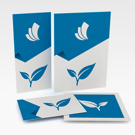 Flyer mit Naturpapier