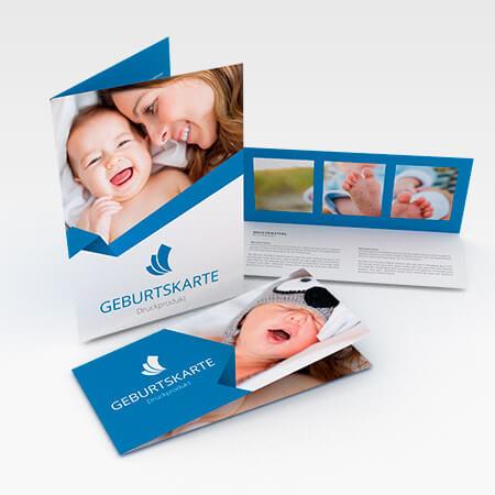 Geburtskarten (Einbruchfalz)