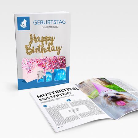 Geburtstagszeitung mit Klammerheftung
