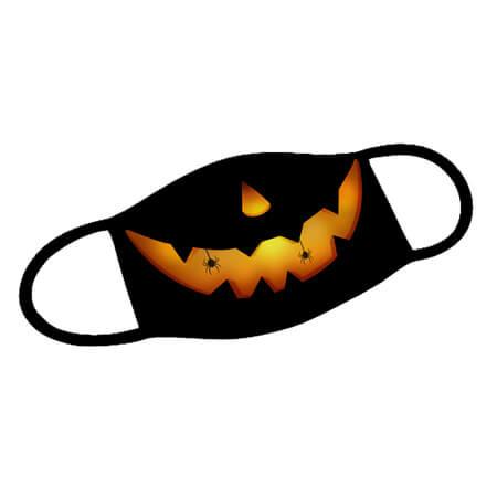 Mund-Nase-Maske Halloween Pumpkin