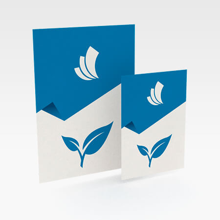 Plakate mit Naturpapier