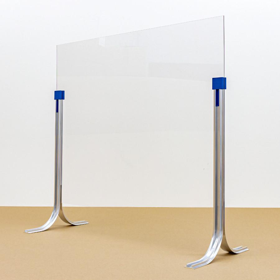 Spuckschutz aus Acrylglas mit Klebestützen